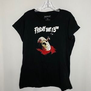 Friday the 13th graphic baby doll tee| 2xl
